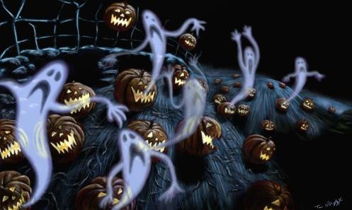 Nightmare before Christmas pumpkins ghosts